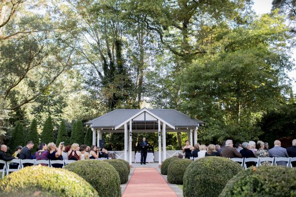 best outdoor ceremony garden location