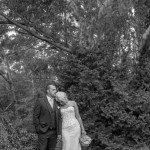 bride and groom in Marybrooke gardens