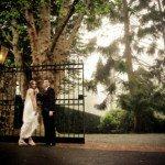 couple at gates of marybrooke