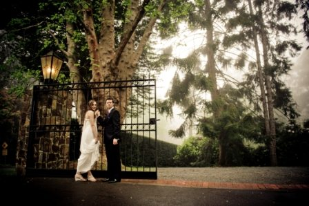 couple at gates of marybrooke