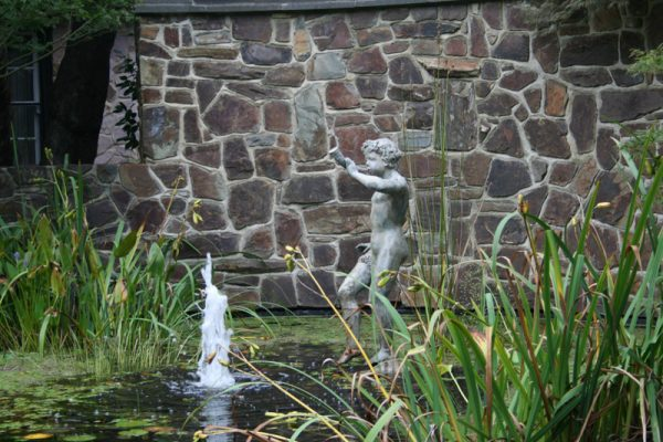 statue in pond in Marybrooke gardens