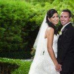 beautiful garden backdrop for bride