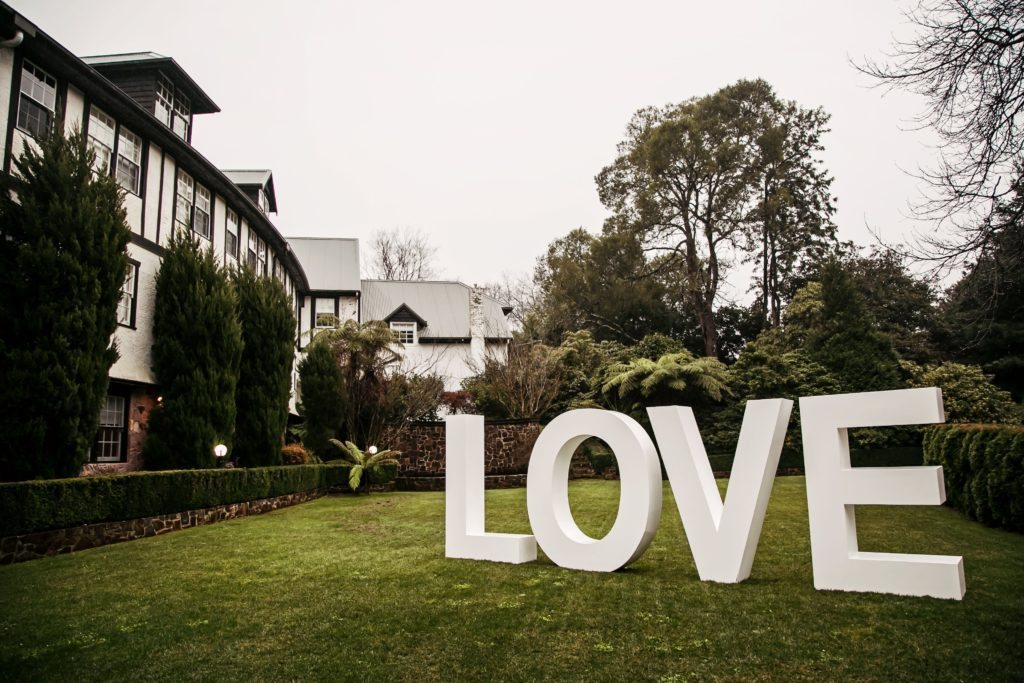 Wedding Dandenong Ranges Love Signs