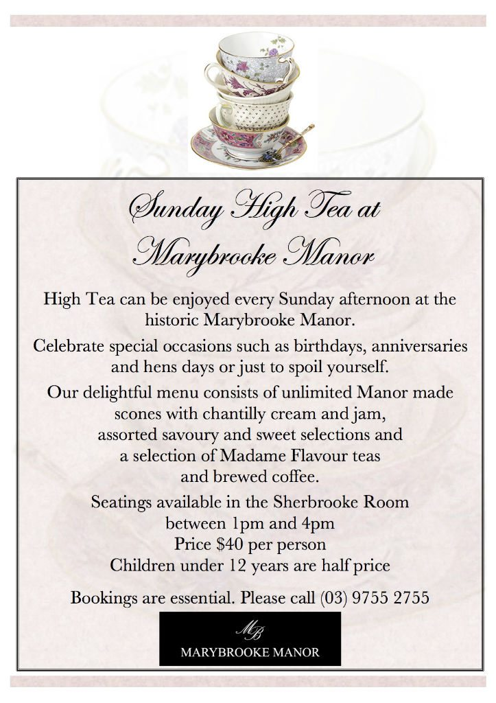 High Tea Flyer 2015
