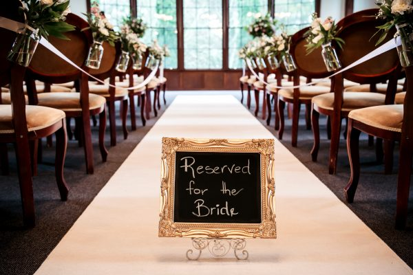 Reserved for the Bride sign