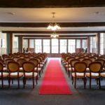 Indoor chapel wedding ceremony