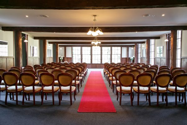 Indoor chapel wedding ceremony