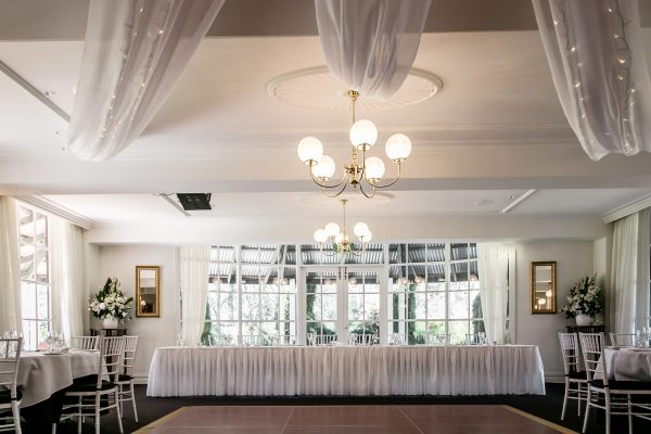 Wedding reception room dandenong ranges